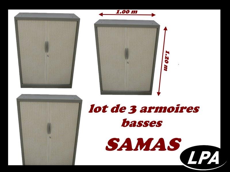 Lot De 3 Armoires Basses Samas Lots Mobilier De Bureau