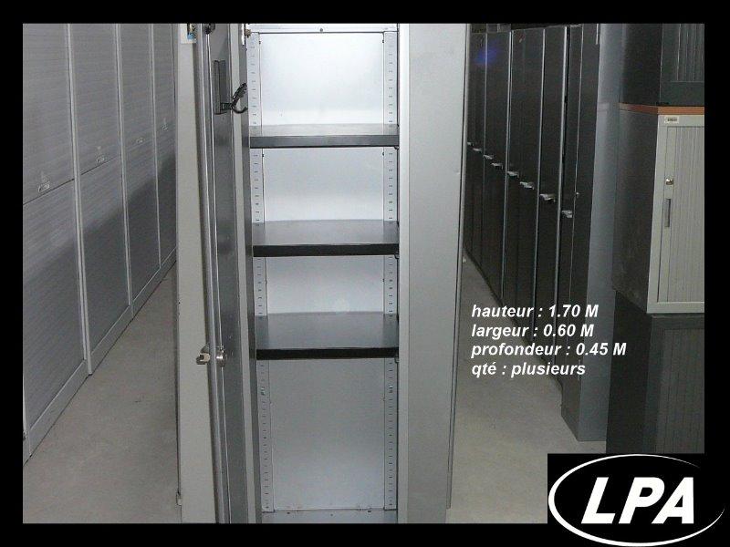 Armoire m tallique une porte m tal steelcase armoire mi - Transformer une armoire en bureau ...