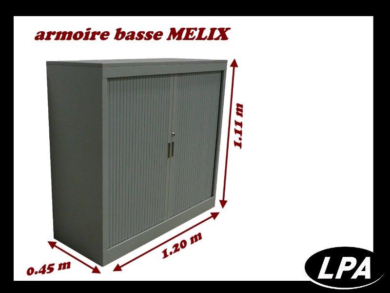 armoire m tallique basse melix armoire basse armoires lpa. Black Bedroom Furniture Sets. Home Design Ideas