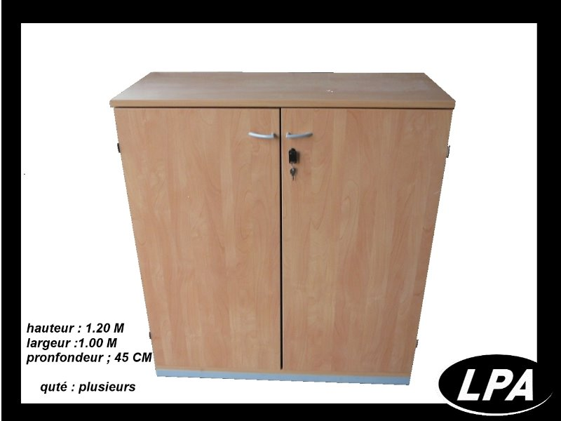 armoire steelcase bois 120x100 armoire basse armoires lpa. Black Bedroom Furniture Sets. Home Design Ideas