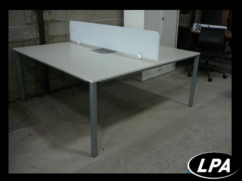 Bench 2 personnes bureau mobilier de bureau lpa for Mobilier bureau 4 personnes