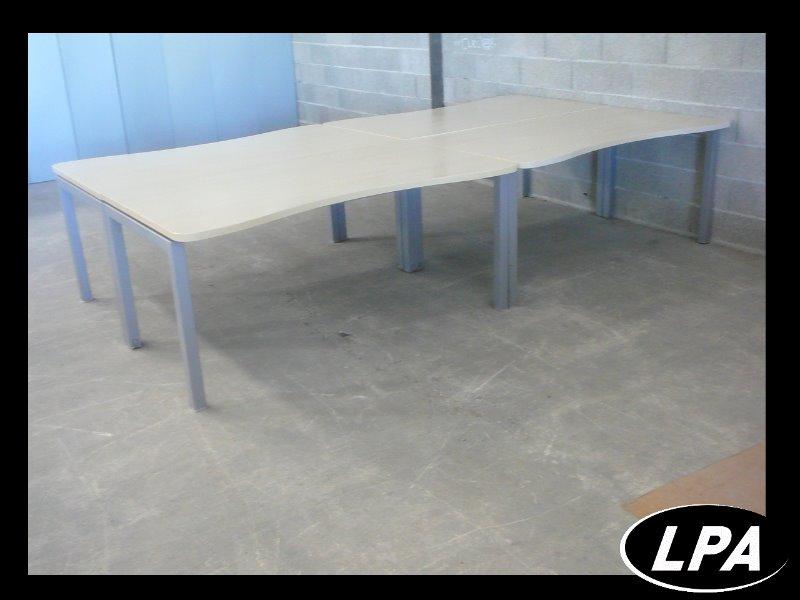 Mobilier de bureau bench 4 places bench mobilier de for Mobilier bureau 4 personnes