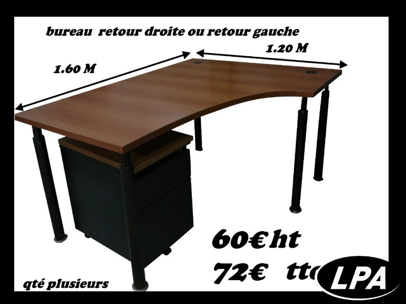 bureau compact plus caisson bureau mobilier de bureau lpa. Black Bedroom Furniture Sets. Home Design Ideas