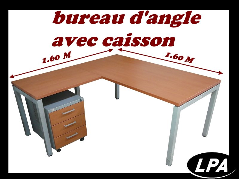 bureau d 39 angle m jg avec caisson bureau. Black Bedroom Furniture Sets. Home Design Ideas
