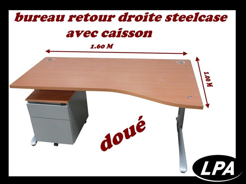bureau retour droite steelcase dou bureau mobilier de bureau lpa. Black Bedroom Furniture Sets. Home Design Ideas