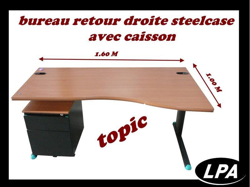 bureau retour droite steelcase topic bureau mobilier de bureau lpa. Black Bedroom Furniture Sets. Home Design Ideas