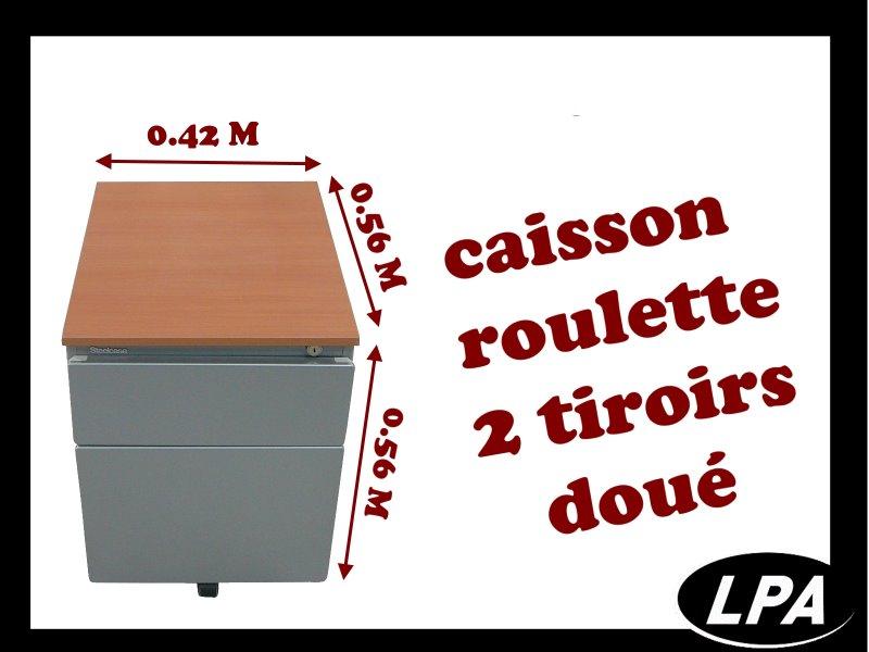 Caisson Roulette Steelcase Doué 2 Tiroirs Pas Cher Caisson