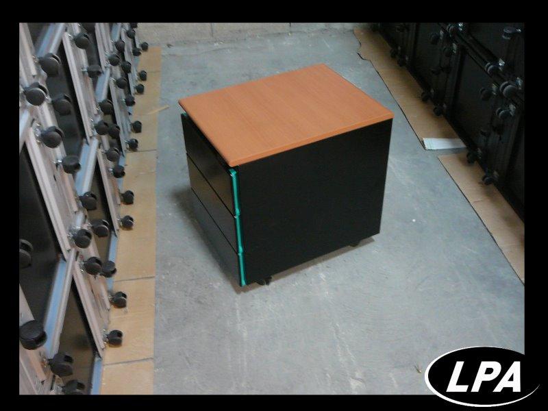 caisson strafor vert et noir 3 tiroirs caisson mobilier de bureau lpa. Black Bedroom Furniture Sets. Home Design Ideas