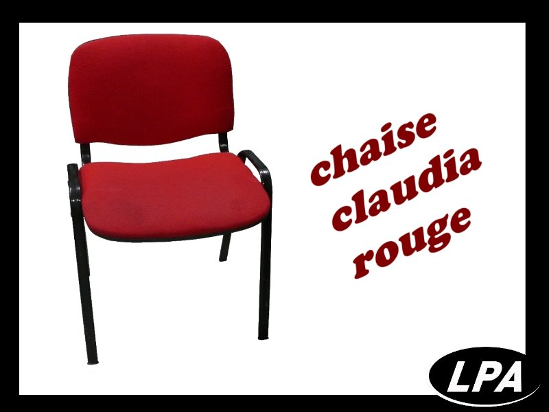 chaise empilable claudia rouge chaise mobilier de bureau lpa. Black Bedroom Furniture Sets. Home Design Ideas