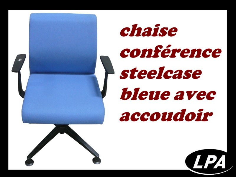 chaise conf rence think steelcase avec accoudoir chaise mobilier de bureau lpa. Black Bedroom Furniture Sets. Home Design Ideas