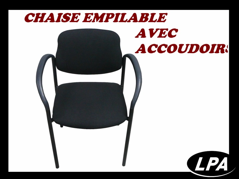 Chaise Chaise Empilable Avec Accoudoirs 1