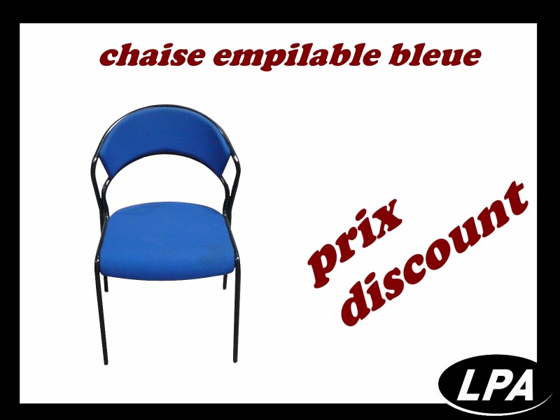 Chaise Chaise Empilable Bleue 1