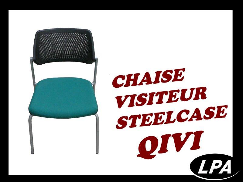 chaise visiteur steelcase qivi chaise mobilier de bureau lpa. Black Bedroom Furniture Sets. Home Design Ideas
