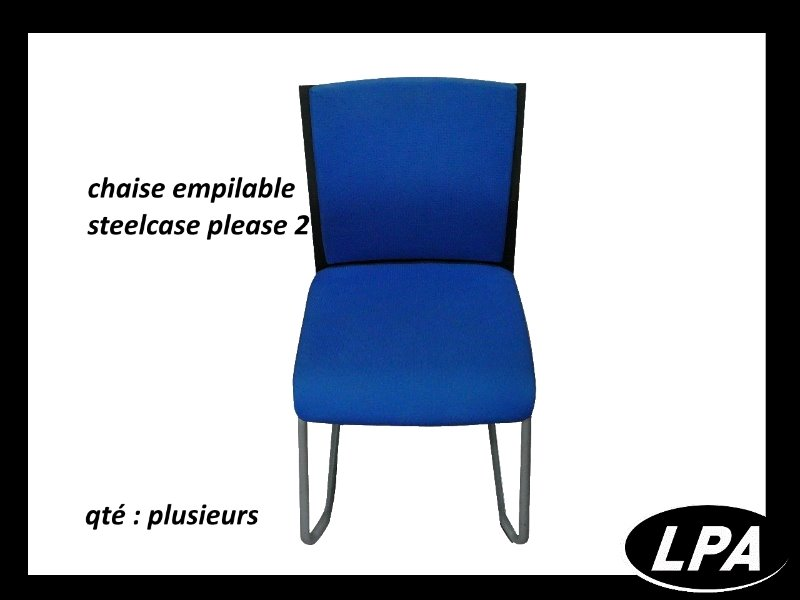 Chaise Chaise Steelcase Please 2 Bleue 1