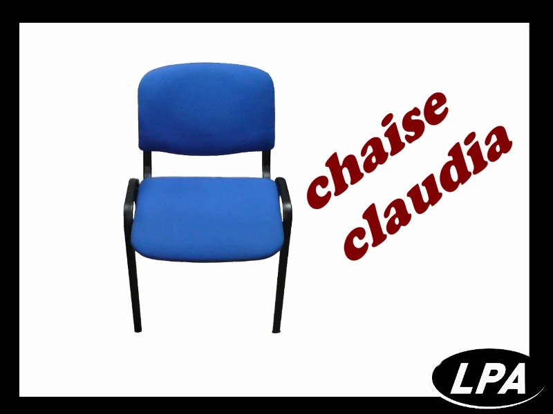 Chaise Chaise Empilable Claudia Bleue  1