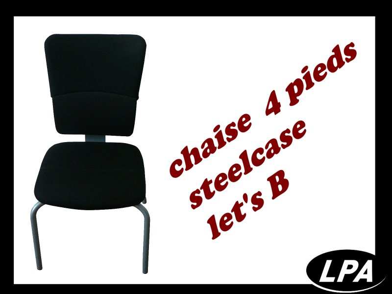Chaise Chaise 4 Pieds Steelcase Let's B Noire 1