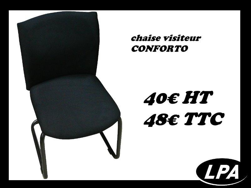 chaise visiteur conforto chaise mobilier de bureau lpa. Black Bedroom Furniture Sets. Home Design Ideas