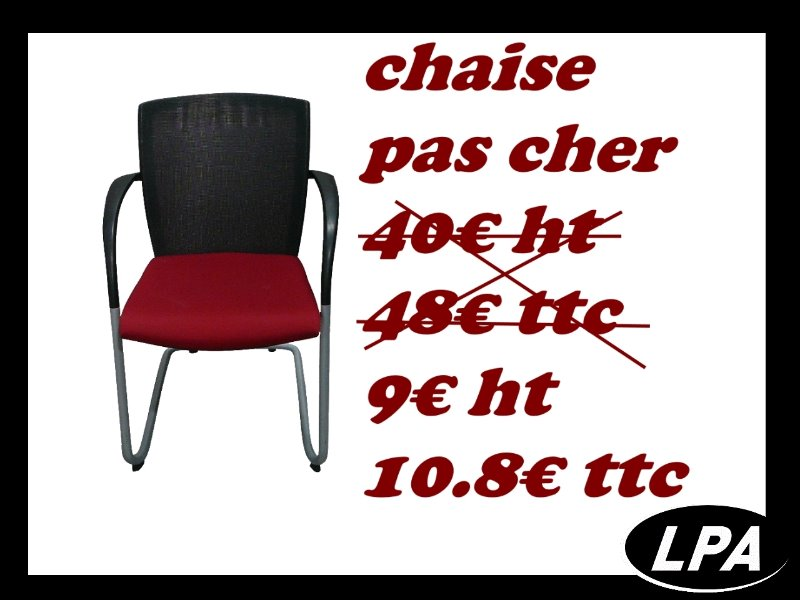 chaise visiteur pas cher chaise mobilier de bureau lpa. Black Bedroom Furniture Sets. Home Design Ideas