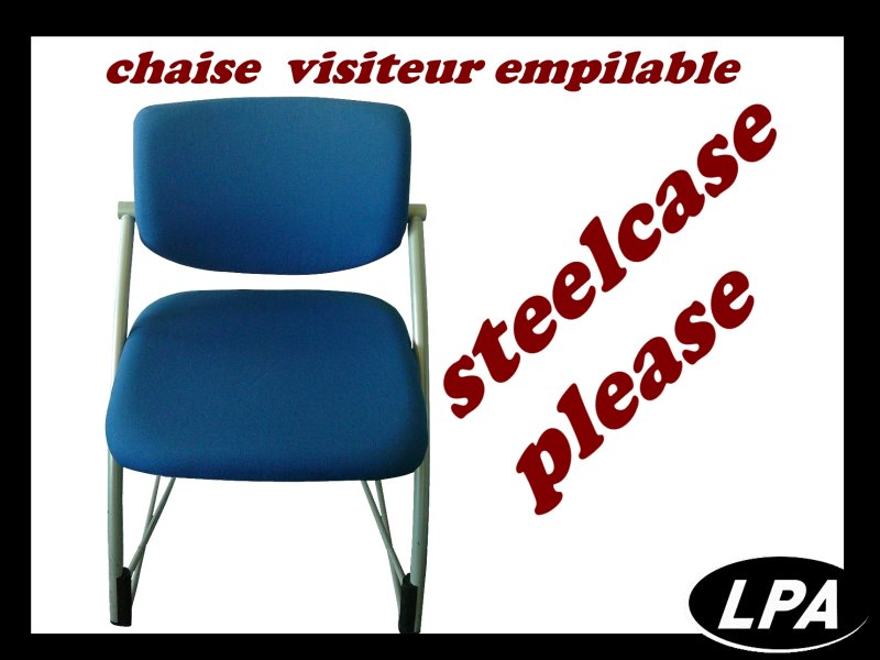 Chaise Chaise Empilable Steelcase Please 1