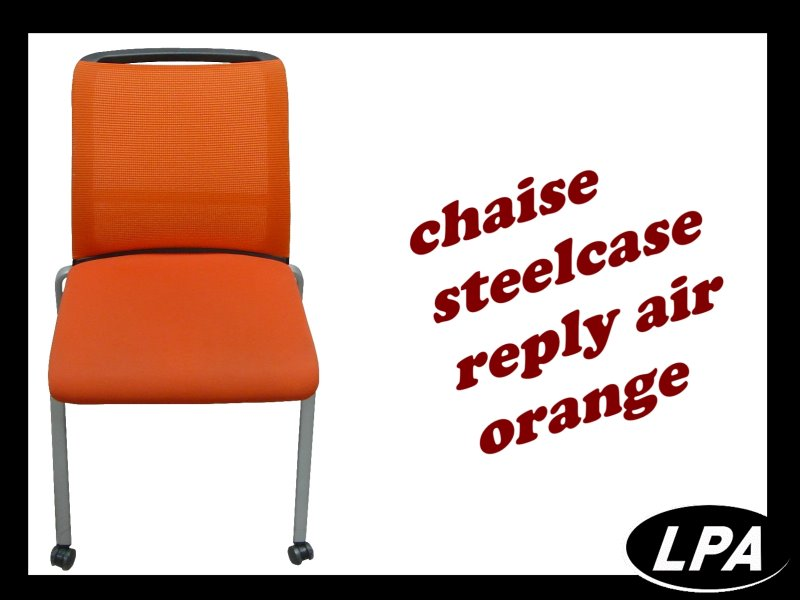 Chaise Chaise Visiteur Steelcase Reply Air Orange 1