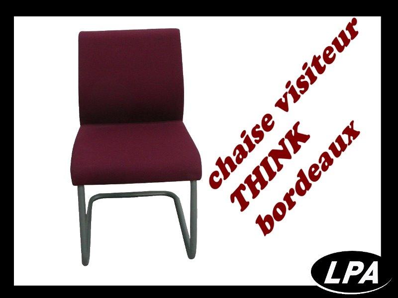 chaise visiteur steelcase think bordeaux chaise mobilier de bureau lpa. Black Bedroom Furniture Sets. Home Design Ideas