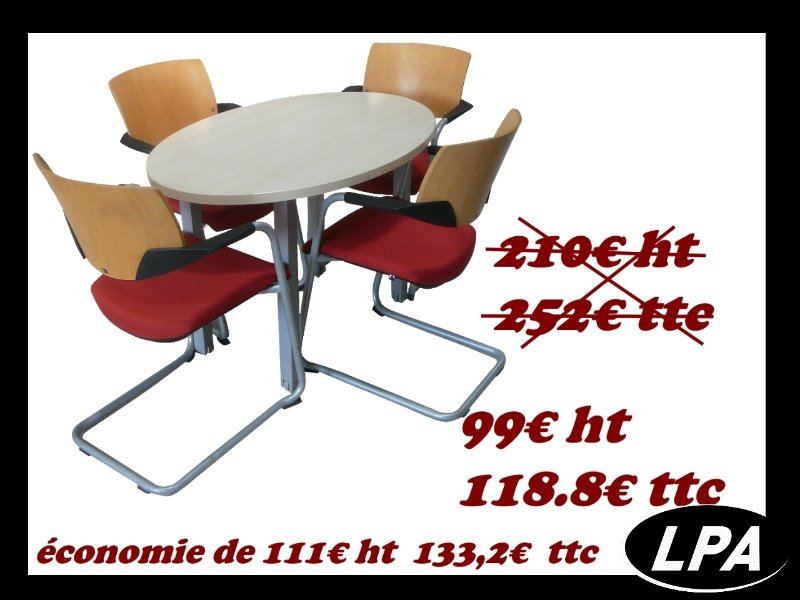 Ensemble table de r union pas cher table de r union for Table de bureau pas cher