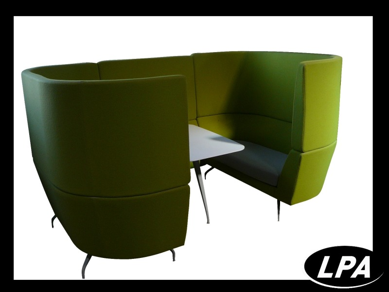 ensemble d 39 accueil acoustique vert mobilier design mobilier de bureau lpa. Black Bedroom Furniture Sets. Home Design Ideas
