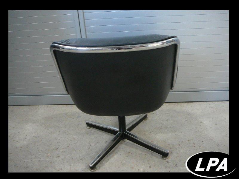 Fauteuil charles pollock cuir noir mobilier design mobilier de bureau lpa - Fauteuil knoll occasion ...