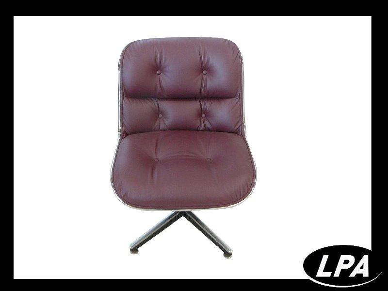 Fauteuil pollock cuir bordeau mobilier design mobilier for Mobilier design fauteuil