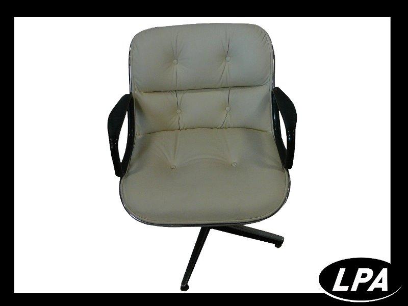 Fauteuil pollock cuir blnc ivoir mobilier design for Mobilier design fauteuil