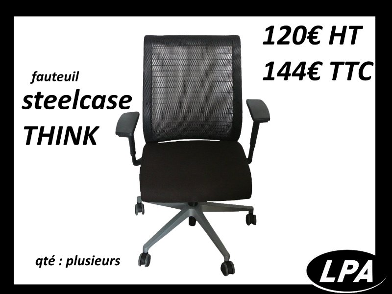 Fauteuil steelcase think occasion fauteuil mobilier de bureau lpa - Fauteuil de bureau steelcase ...