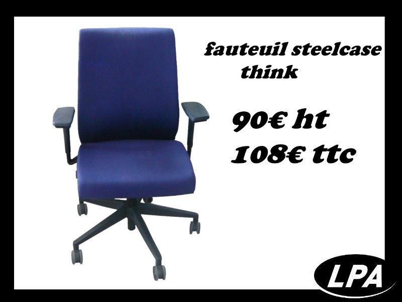 Fauteuil steelcase think fauteuil mobilier de bureau lpa - Fauteuil de bureau steelcase ...