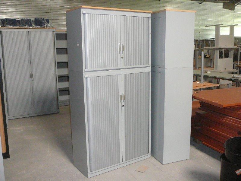 armoire m tallique 2 l ments steelcase strafor 200x120 armoire haute armoires lpa. Black Bedroom Furniture Sets. Home Design Ideas