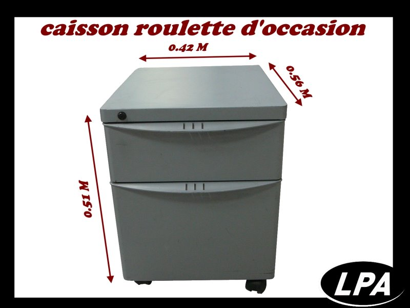 caison roulette d 39 occasion caisson mobilier de bureau lpa. Black Bedroom Furniture Sets. Home Design Ideas