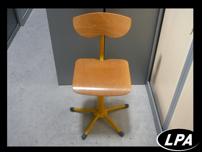Siège de bureau d école jaune chaise mobilier de bureau lpa