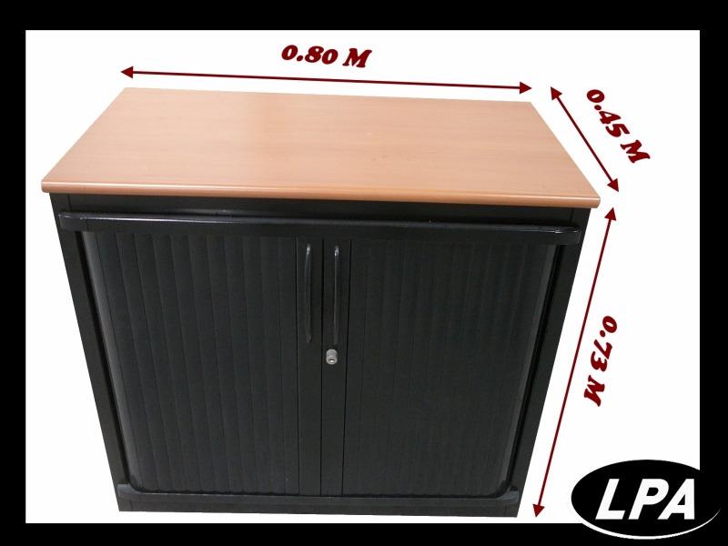 petite armoire basse steelcase noire cr dence armoires lpa. Black Bedroom Furniture Sets. Home Design Ideas