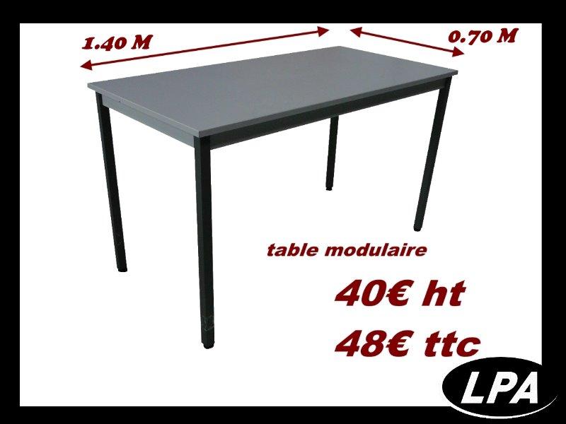 table modulaire table mobilier de bureau lpa. Black Bedroom Furniture Sets. Home Design Ideas