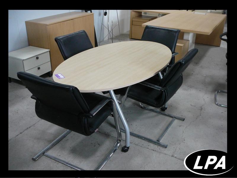 table ovale wendl rable table de r union mobilier de bureau lpa. Black Bedroom Furniture Sets. Home Design Ideas