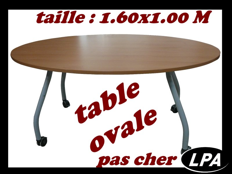 table ovale pas cher table de r union mobilier de. Black Bedroom Furniture Sets. Home Design Ideas