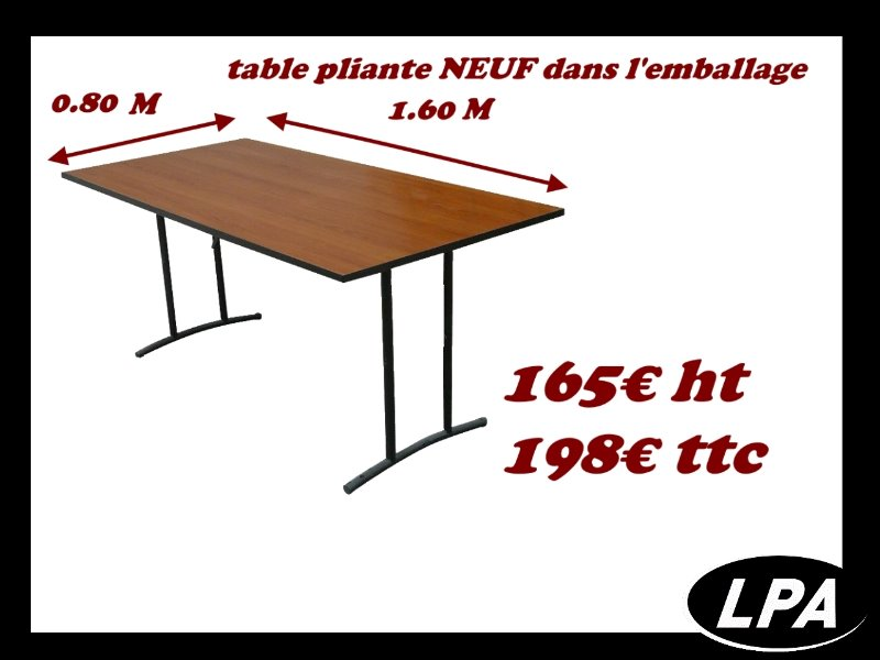 table pliante neuf table pliante et basculante mobilier de bureau lpa. Black Bedroom Furniture Sets. Home Design Ideas